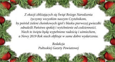Radosnych i spokojnych Świąt Bożego Narodzenia!