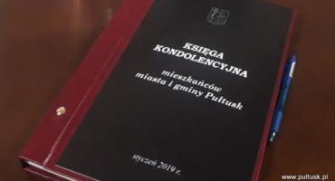 Księga kondolencyjna mieszkańców miasta i gminy Pułtusk