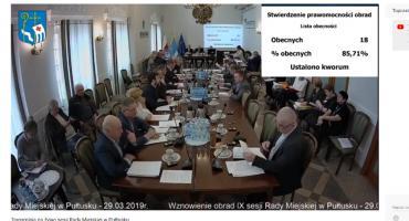 Obrady sesji Rady Miejskiej – transmisja