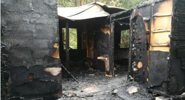 Pożar domku letniskowego w Zambskach Starych – spłonęły dwie osoby