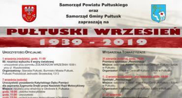 Pułtuski Wrzesień 1939 - 2019 - ZAPROSZENIE