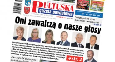 W jutrzejszym, 36 numerze Pułtuskiej Gazety Powiatowej