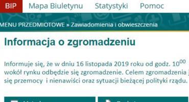 Antyrządowa manifestacja w Pułtusku