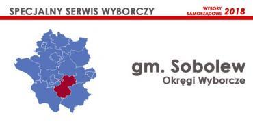 Gm. Sobolew: Okręgi wyborcze - wybory samorządowe 2018