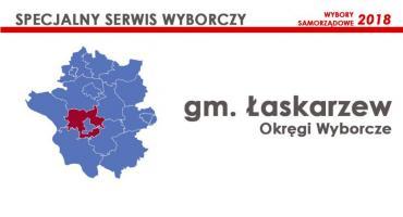 Gm. Łaskarzew: Okręgi wyborcze - wybory samorządowe 2018