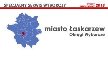Miasto Łaskarzew: Okręgi wyborcze - wybory samorządowe 2018