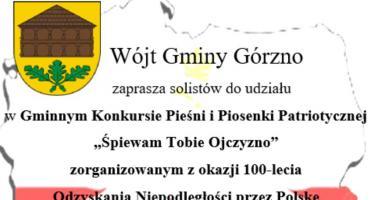 Patriotyczne konkursy w gminie Górzno