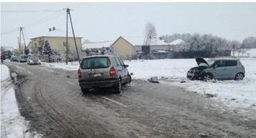 6 kolizji w jedną dobę – trudne warunki na drogach