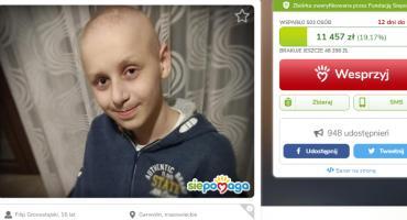 Filip umrze, jeśli przerwą leczenie – trwa zbiórka na lek dla nastolatka