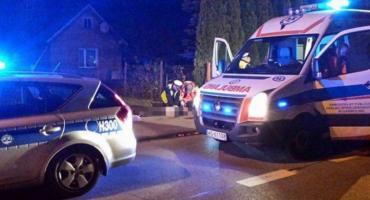 Wypadek na DK17 – potrącenie pieszego w Puznówce