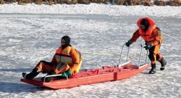 Pod psem załamał się lód – zwierzę uratowali strażacy