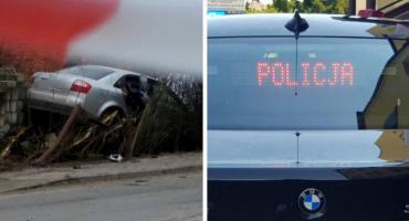 Wypadek – pijany kierowca audi uciekł z miejsca zdarzenia