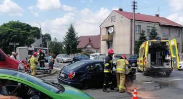 Zderzenie trzech aut na Staszica