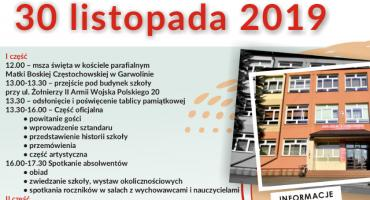 50-lecie Zespołu Szkół Nr 2 w Garwolinie – Ruszyły zapisy na Zjazd Absolwentów