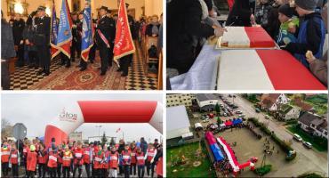 Wilga świętowała rocznicę odzyskania niepodległości – Video z drona