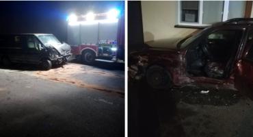 Wypadek na skrzyżowaniu – Kurier zignorował znak STOP