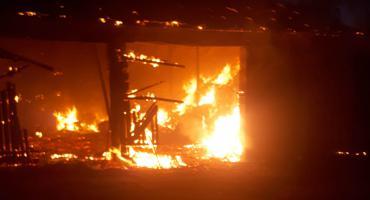 Spłonęła stodoła w Półcznie