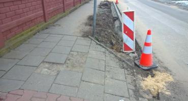 ... chodnik przy ulicy Bolesława Chrobrego będzie miał po remoncie cztery oblicza?