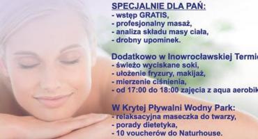 """Dzień Kobiet aktywnie i zdrowo w Inowrocławskiej Termie i """"Wodnym Parku""""!"""