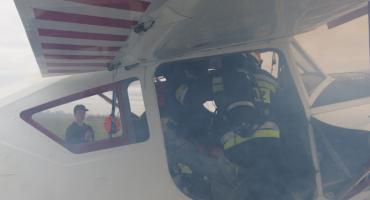 Awaryjne lądowanie samolotu w Inowrocławiu