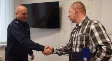Komendant Powiatowy Policji w Inowrocławiu podziękował żołnierzowi za reakcję i postawę