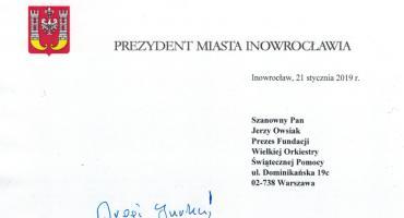 Prezydent napisał do Owsiaka