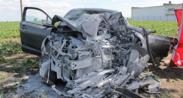 Wypadek w Jaksicach, zginęła kobieta