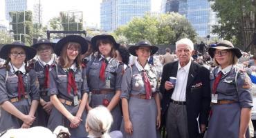 harcerki ZHR na zlocie z okazji 75. rocznicy wybuchu Powstania Warszawskiego