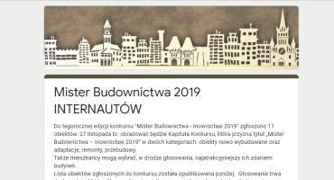 Plebiscyt publiczności - Mister Budownictwa