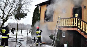 Płonął dom w Strachowie
