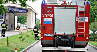 Strażacy ćwiczebnie w szpitalu