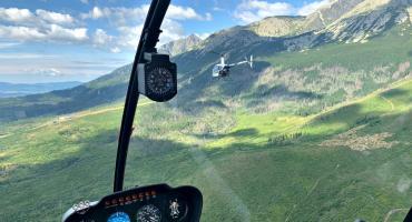 Wielka przygoda - i wyczyn - płońszczanie śmigłowcami nad polskimi górami