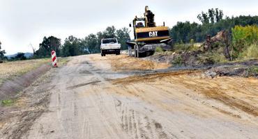 Trwają prace na drodze Wychódźc - Miączyn