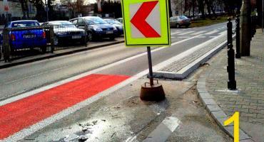 Socjopatyczna ścieżka rowerowa na Krasińskiego