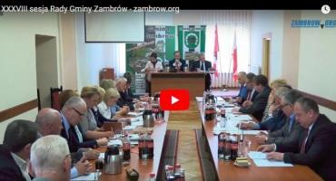 XXXVIII sesja Rady Gminy Zambrów [retransmisja]