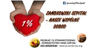 Przekaż 1% na rzecz Towarzystwa Nasz Szpital