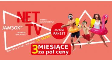 Interaktywna telewizja cyfrowa + niezawodny Internet – teraz pierwsze 3 miesiące PAKIET ZA PÓŁ CENY!