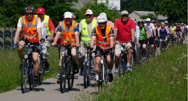 Rowerzyści wybrali się do miejscowości Tybory Kamianka [foto]