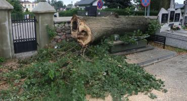 Gwałtowna burza przeszła nad Zambrowem [foto+video]