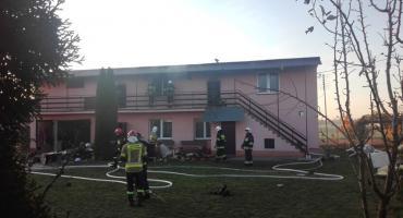 Pożar domu przy ul. Stokrotki [foto]