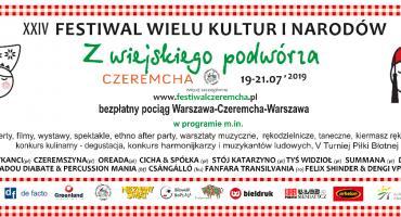 """XXIV Festiwal Wielu Kultur i Narodów """"Z wiejskiego podwórza""""  19 - 21 LIPCA 2019"""