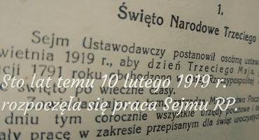 Sto lat temu rozpoczął pracę Sejm Odrodzonej Rzeczpospolitej