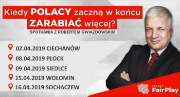 Spotkania z Robertem Gwiazdowskim na Mazowszu