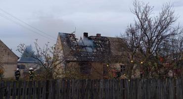 Pożar budynku mieszkalnego w Świętej
