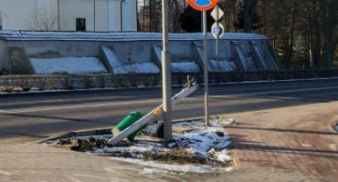 Kolizja na ulicy Grudzińskich w Złotowie