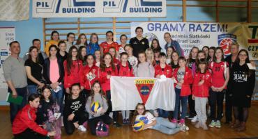 Siatkarki Sparty Złotów na meczu Ligi Siatkówki Kobiet