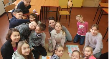 Uczniowie Społecznej Szkoły Podstawowej w Zalesiu na warsztatach