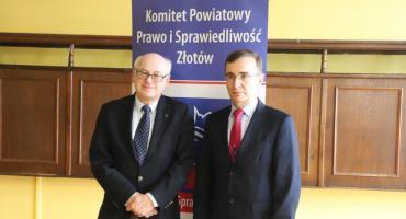Zdzisław Krasnodębski z wizytą w Złotowie