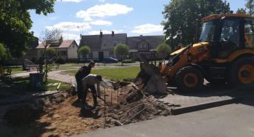 Trwają prace budowlane w Krajence