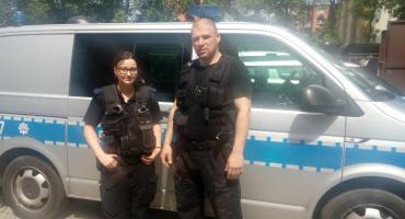 Samobójca uratowany przez policjantów